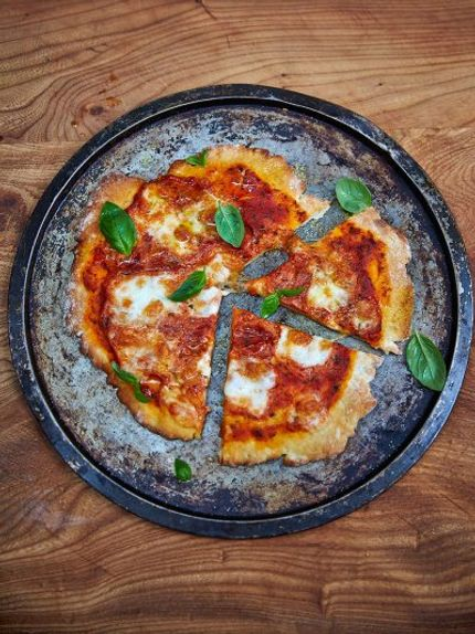 Pizza and Homemade Tomato Sauce